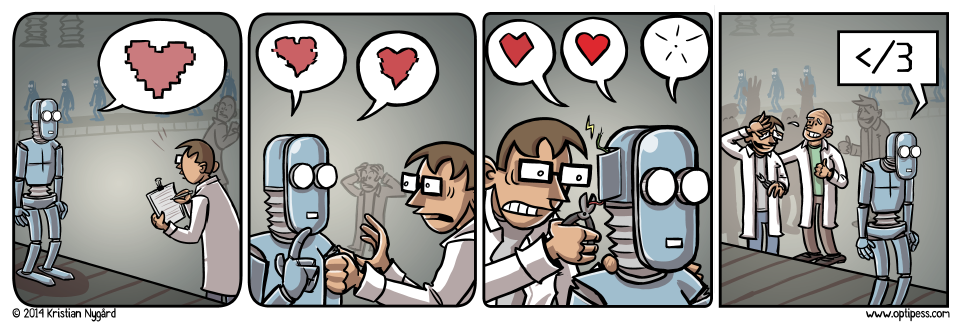 Phew! And so another ghastly robot/toaster relationship was avoided.
