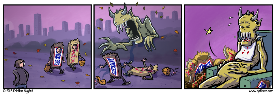 This comic is brought to you by SNICKERS™! Oops no wait, they just sued me instead.