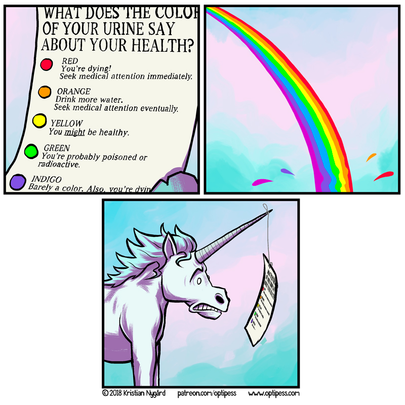 Yes, that's exactly how a unicorn would hold a piece of paper.