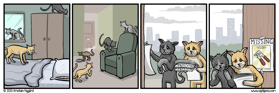 I guess this strip proves once and for all that cats DO have feelings after all.
