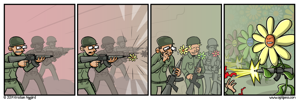 The flower army was eventually killed by pesticide, but not before they managed to plant some secret seeds to set up the sequel.