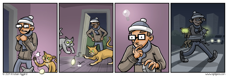 A reminder: Always thoroughly sedate your cat before using it for this purpose.