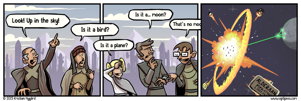 "This comic totally buys into the hype for the new Star Wars movie. ""Live long and prosper, Captain Sheridan!"""