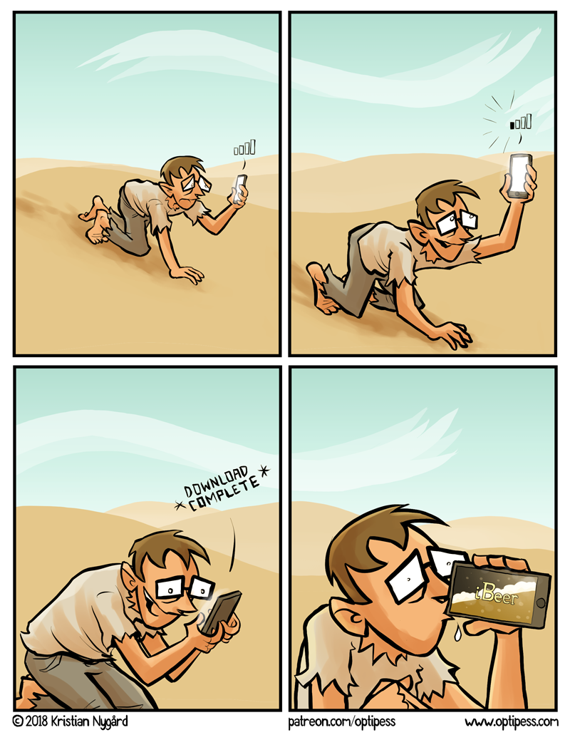 This comic is in no way associated with the garbage iBeer app on the App Store.