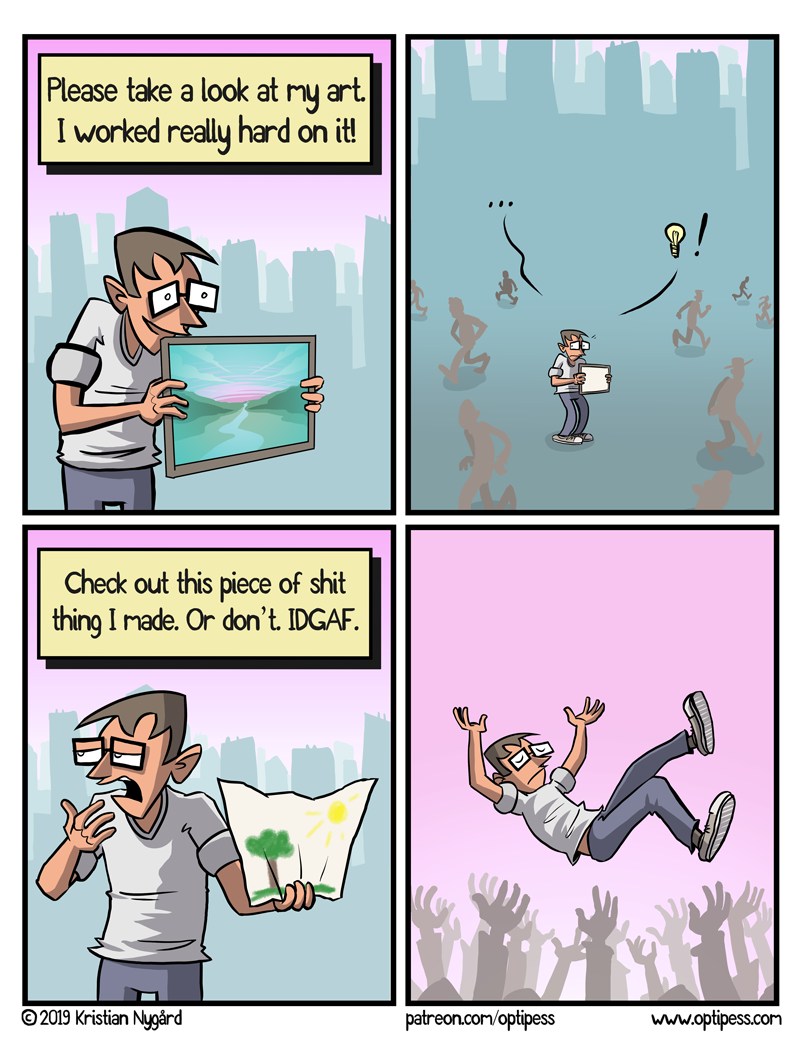 Oh no, looks like I made too much an effort with this comic. Should've just made it with crayons.