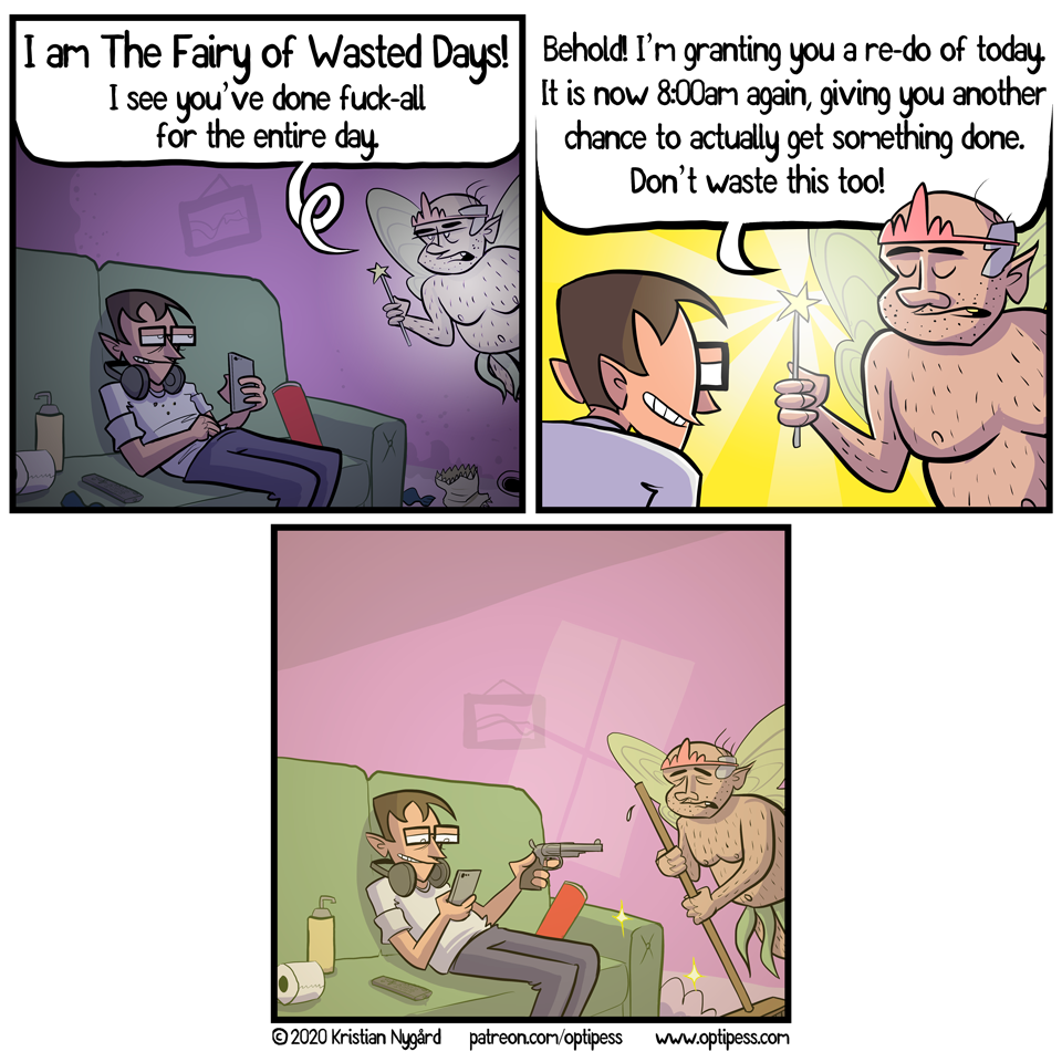 The fairy was also forced to make this comic.