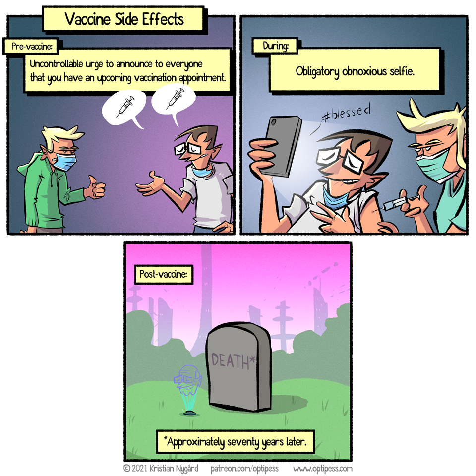 He would also finally get 5G in the afterlife.